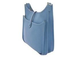 HERMES Evelyne 3 PM Taurillon Clemence Bleu Paradis Shoulder Bag #R Authentic image 2