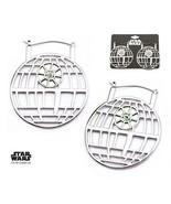 Disney Star Wars Stainless Steel Death Star Hanger Earrings - $43.50