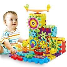 81 Pcs Interlocking Building Blocks and Gears Toy Set with Motorized Spi... - $14.63
