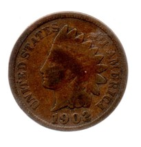 1902 Indian Head Cent Circulated abt Extremely Fine - $8.99