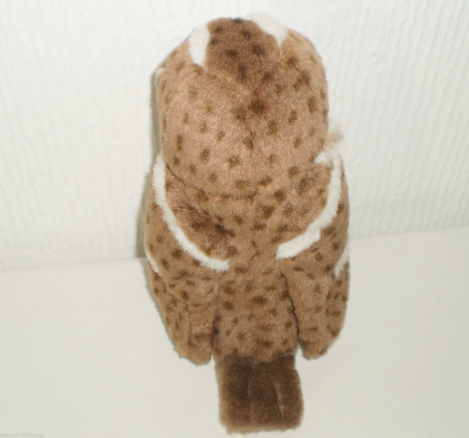 K&M Soft Toy Plush Owl Bird Press Belly makes Owl Sounds