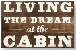 'Living The Dream......' Rustic Wooden Cedar Sign - Size 16 x 24 - Item ... - $54.00
