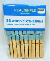 Bed Bath and Beyond 34 Wood Clothespins Rubber Tipped - $7.89