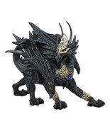 "Ebros Tharos The Blue Sapphire Golden Armored Dragon Statue 10"" Long Hom... - $24.95"