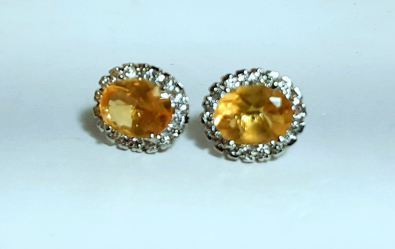 925 Sterling Silver Natural A+ Quality Citrine And Cz Gemstone Handcrafted Desig image 4