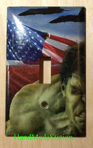 Hulk US Flag Air Force Light Switch Power Outlet Wall Cover Plate Home decor image 1