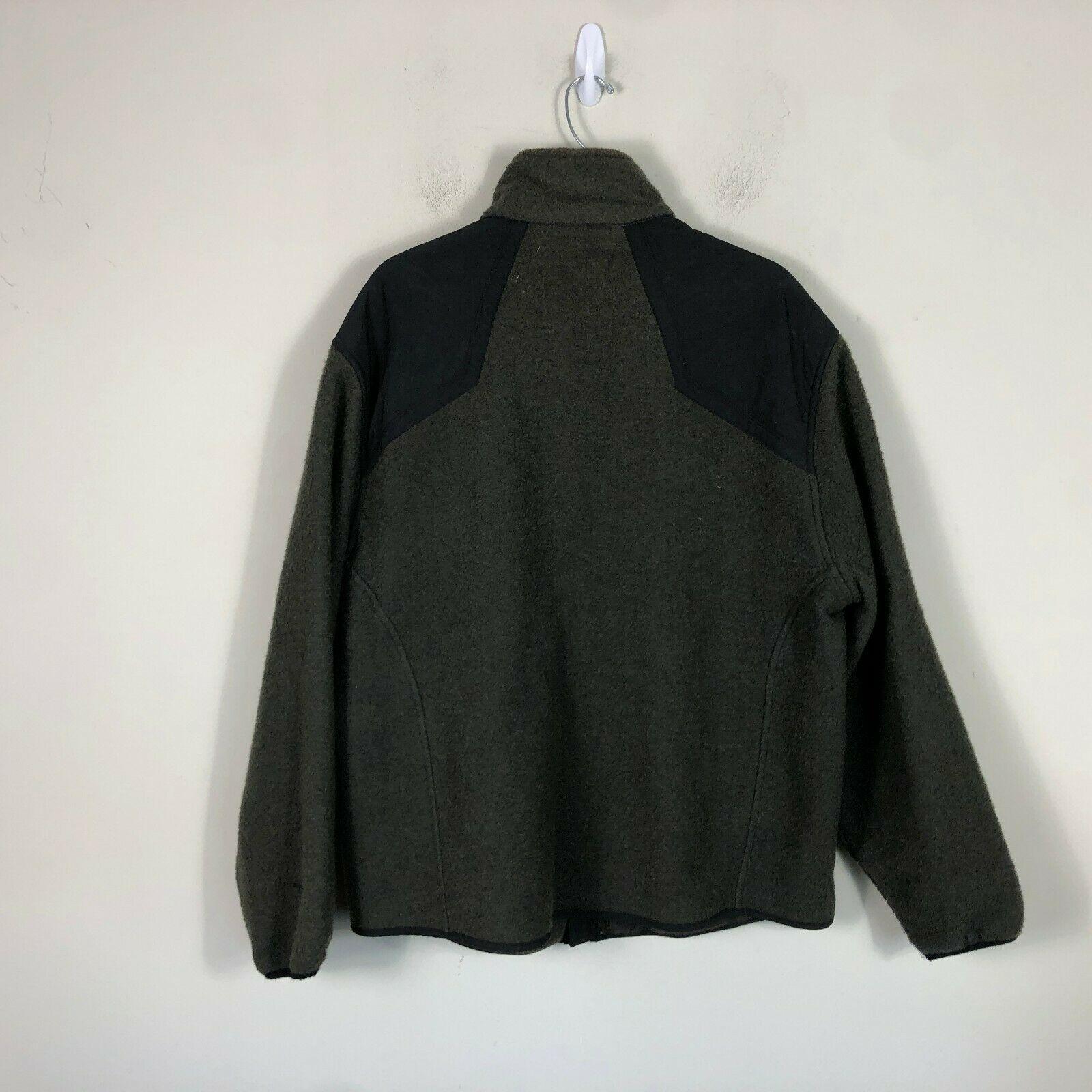Wool Rich Wool Fleece Jacket Men's L Green Wool Blend Thick Winter Coat image 2