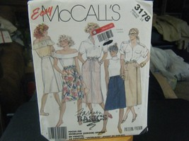 McCall's 3178 Misses Skirts Pattern - Size 14 Waist 28 Hip 38 - $6.92