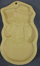 Brown Bag Cookie Art Snowman Mold Hill Design 1989 Christmas - $21.95