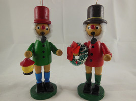 """Vintage Wooden Christmas Ornaments 5"""" Man with Pipe Very nice - $13.85"""