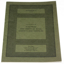 Sothebys Catalogue European & Oriental Rugs Carpets Textiles London Apri... - $9.89