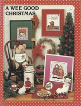 Vintage Cross Stitch Pattern Booklet-A Wee Good Christmas-Angels-Bear-Or... - $3.95