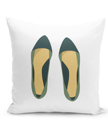 Throw Pillow Shoe LoversPremium Quality White Home Decor Pillow 16x16 - $364,44 MXN