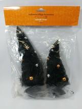 Dept 56 Halloween Village Midnight Sisals Trees w/ Copper Silver Balls N... - $19.85