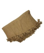 """Pottery Barn Cozy Weaved Throw Blanket Brown Size 50"""" x 60"""" - $38.52"""