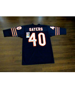 GALE SAYERS ROY 65 CHICAGO BEARS SIGNED AUTO QUALITY THROWBACK JERSEY JS... - $494.99