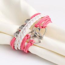 Multi-layer Charm Leather Bracelet for Women - $2.99