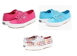 Superga HOT PINK * TURQUOISE * CHECKERED * CROCHET Sneakers Shoes Wms NW... - $42.49