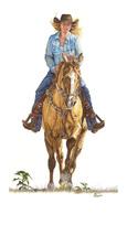"AMERICAN COWGIRLS DECOR ART - Signature Series Giclee Print - ""  TINA  ""  - $195.00"