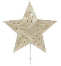 Wondershop Easy Clip Lit Star Ceiling Illuminating Christmas Tree Topper Gold image 3