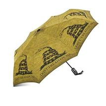 InterestPrint Vintage Gadsden Don't Tread On Me Flag Windproof Auto Open and Clo - $25.73