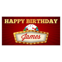 Casino Poker Birthday Banner Personalized Party... - $22.50 - $37.00