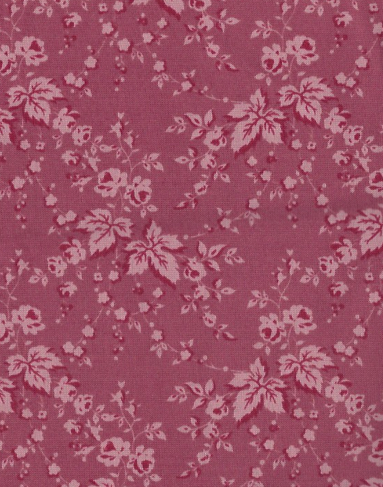 Primary image for Over Half Yd or 22 inches by 42 inches Mauve, Wine, Leaves,Roses, Quilt Fabric