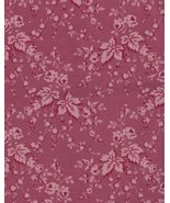 Over Half Yd or 22 inches by 42 inches Mauve, Wine, Leaves,Roses, Quilt ... - $3.37