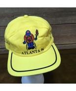 Vintage 1996 Paralympics Brazil Wheelchair Basketball Hat Yellow - £17.27 GBP
