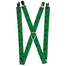 DC Comics The Riddler Question Mark Green Logo Suspenders  - $13.99