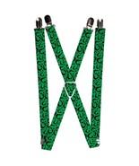 DC Comics The Riddler Question Mark Green Logo Suspenders  - $13.99