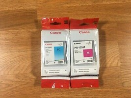 Lot Of 2 Genuine Canon PFI-105 Ink Tanks PC & M For iPF6300/iPF6350 Install 2012 - $226.71