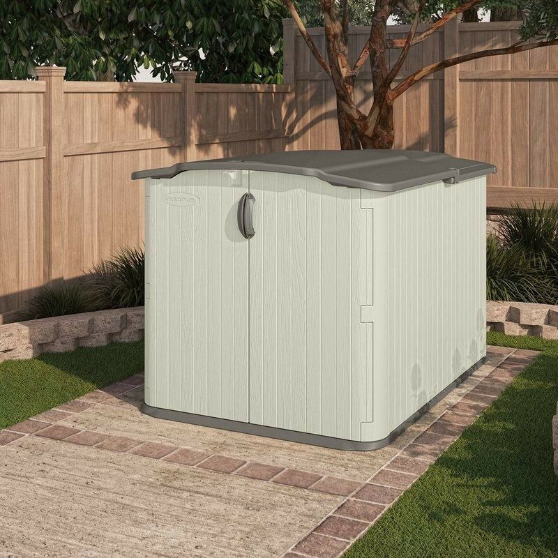 Large Garden Shed Patio Yard Horizontal Utility Tool Storage Organizer Container