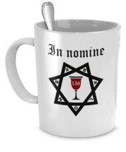 Thelema coffee mug - In nomine BABALON - Occult ritual coffee cup gift - OTO cup - $20.90