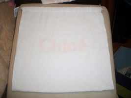 Chloe' 12x10 Storage Pouch, Dust Bag, Purse Holder, Drawstring, White C... - $12.86