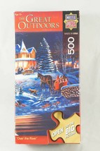 Master Pieces 500 Piece Puzzle The Great Outdoors Over the River Winter ... - $9.28