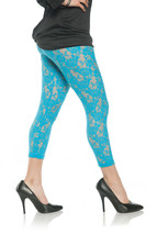 Underwraps Floral Lace Sheer Leggings Blue Adult Womens Halloween Costum... - $15.68
