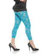 Underwraps Floral Lace Sheer Leggings Blue Adult Womens Halloween Costum... - $15.55