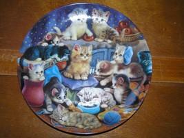 Bradford Exchange FRISKY BUSINESS by Juren Scholz Cute Kitty Cat Porcela... - $9.49