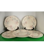 Johnson Brothers LYNTON Dinner Plate (s) LOT OF 5 Made England Pink Blue... - $53.30