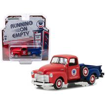 1953 Chevrolet 3100 Pickup Truck Standard Oil Red and Blue Running on Em... - $19.76