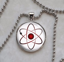 Atom Atomic Model Physics Science Nerd Math Pendant Necklace - $14.00+