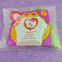 Ty Teenie Beanie Baby Speedy Turtle Toy Animal 1998 McDonalds #6 - $7.92