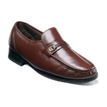 Florsheim Mens shoes Dancer Moc Toe Slip On Cognac kidskin Leather 11002-03  - $119.99