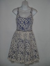 Anthropologie Weston Wear Vinca Minor White Purple Lace Tulle Dress SMALL S - $55.84