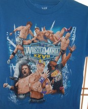 Wrestlemania XXVII 27 Licensed WWE Youth SZ L Blue T Shirt John Cena Undertaker - $16.78