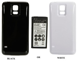 Extended High Capacity Replacement Battery with back cover for samsung galaxy s5 - $22.99+