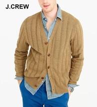 J.CREW Wallace & Barnes cardigan sweater light brown tan beige nr cotton... - $75.70