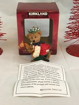 Kirkland Signature Brown Bear Riding Stick Horse Vintage Christmas Ornam... - $7.70