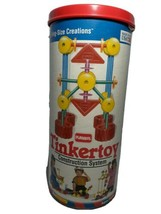 Vintage Playskool Tinkertoy Construction System Mixed Lot Rods Wheels Connector  - $22.30